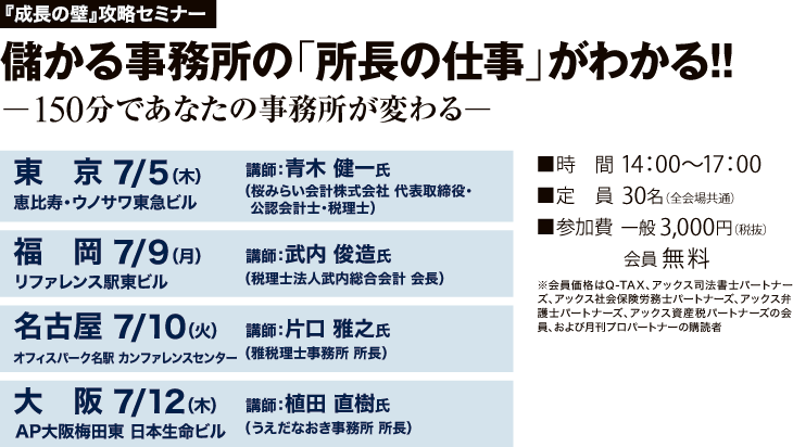 儲かる事務所の「所長の仕事」がわかる!!